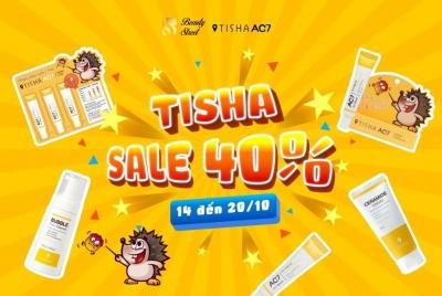 SALE 40% BỘ TRỊ MỤN TISHA - 14/10 ĐẾN 20/10